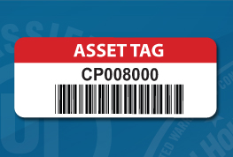 Asset Label Sample with code 39 barcode
