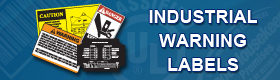 Industrial Warning Labels Banner