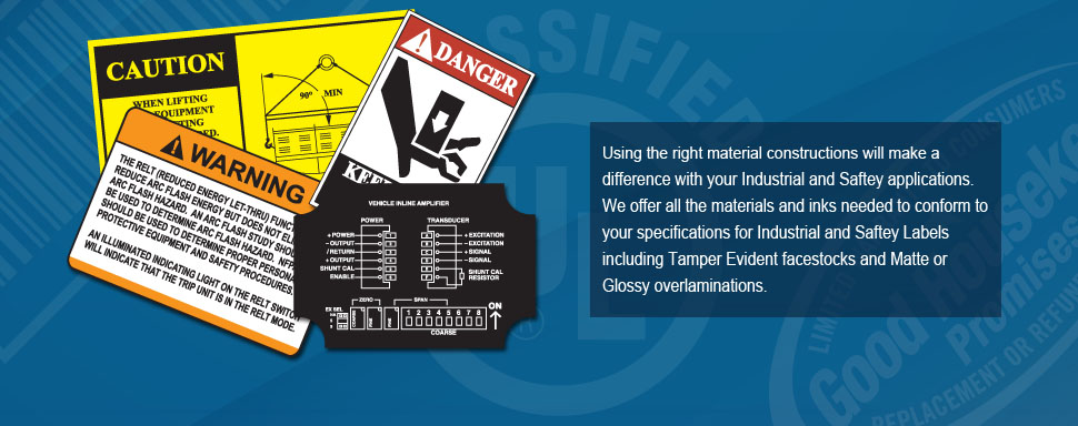Banner Ad showing Industrial Warning Labels