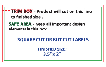 Design Template for submitting custom printed label file