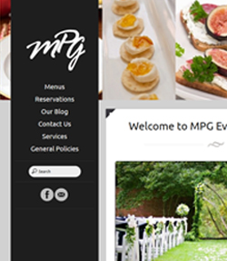 Sample Web Template MPG Events and Catering